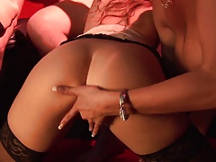 Horny Girls Line Up For A Thorough Throbbing In An Orgy