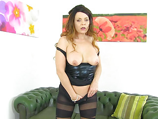 British milf Gemma Gold can  039 t ignore her pantyhosed fanny