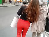 Red pants great ass