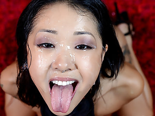 Beautiful Saya Song suck and fuck a 9 inches cock