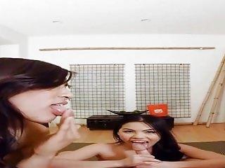 VRBANGERS-Three sexy Asian girls worship your dick