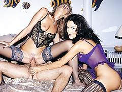Isabella and Kata Lynn Sharing a Cock an Anal Session