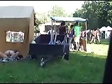 Amateurs Fucking Behind Tent at Festival!