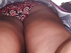 Black mature upskirt