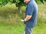 He shows his big dick on golf.