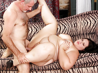 Plump Becki fucked and eats cum