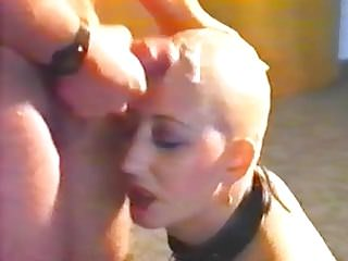 Vintage cumshot on a bald head