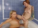 Hot lesbian pissing