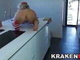 Krakenhot - Homemade BDSM video. Spanked Wife in the kitchen