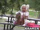 Krakenhot - AyesaX in a voyeur scene at the park