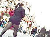 milf teasing in miniskirt and pantyhose