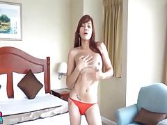 Amateur Asian TS Filipina Get Fucked Bareback