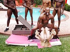 BBC Slut Alexa Grace Survives Interracial Gangbang
