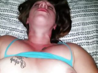 Black lover's cum was smeared all over