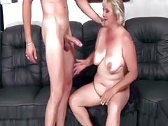 Chubby Grandma Fucks A Young Cock