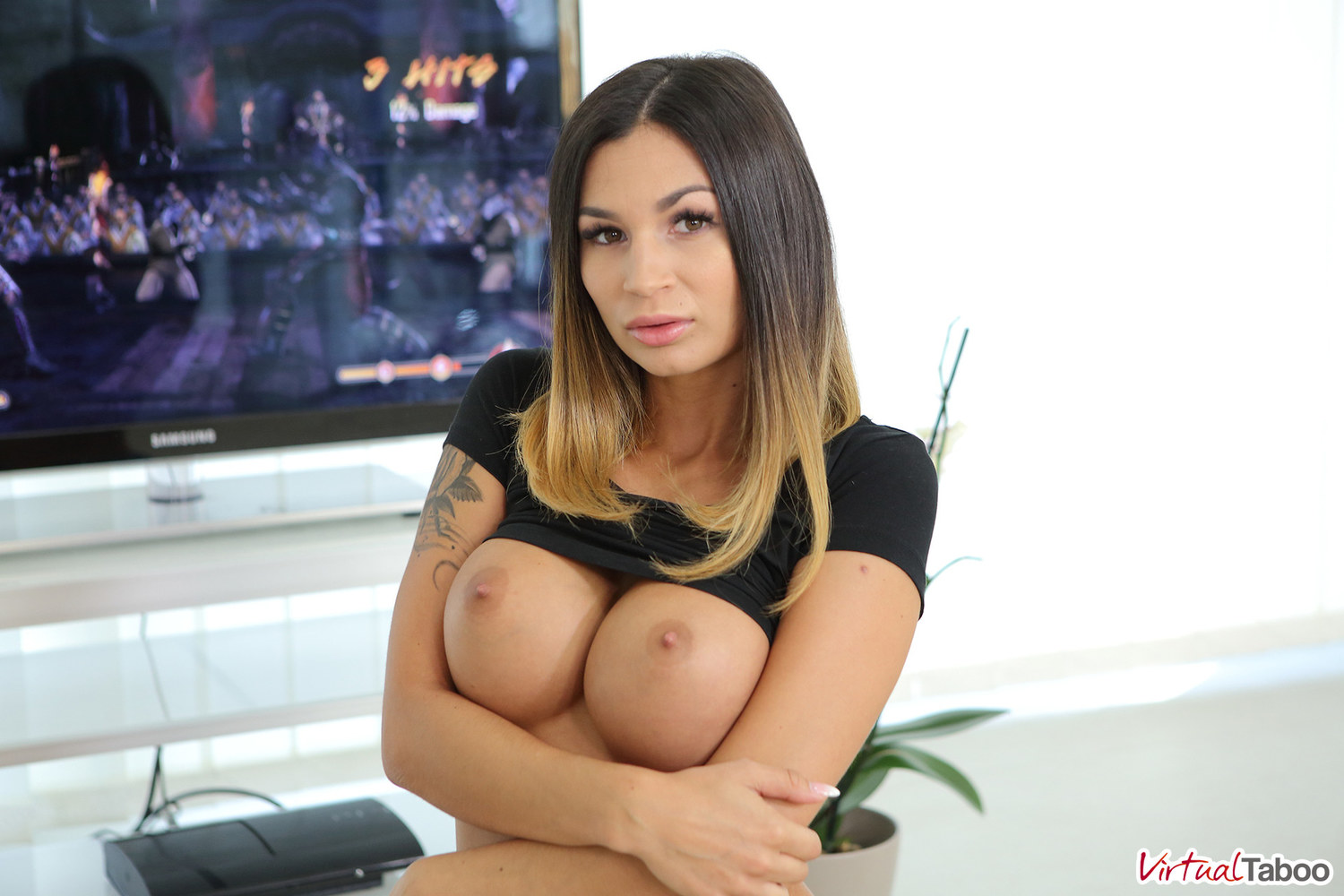 image Badoinkvr busty spex office slut bridgette b rides your cock