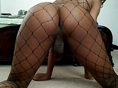 First time with fishnets
