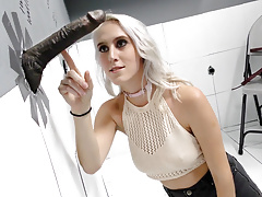 Cadence Lux Pleases Black Cocks At Gloryhole