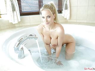 VirtualTaboo.com Super sexbomb MILF Nataly taking big bath