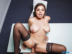 BaDoinkVR.com POV Sex Interview With Big Titted Ella Knox